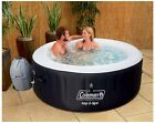 Coleman 4 Person Inflatable Hot Tub Spa Jacuzzi Heated Bubble Massage Portable