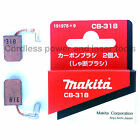 Makita GD0810C Die Grinder CB318 Carbon Brushes Genuine Original Part 191978-9