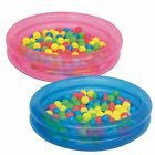 Inflatable 2 Ring Kiddie Wading Pool Ball Pit Pink or Blue w 50 Fun Game Balls