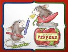 Pepper Power HOUSE MOUSE Wood Mounted Rubber Stamp STAMPENDOUS NEW HMR48