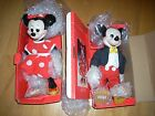 Limited Edition of 5000 Mickey and Minnie Mouse Porcelain Musical Dolls NEW