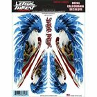Lethal Threat Eagle USA US Flag Stickers For Motorcycle Forks Fairing Fork Decal