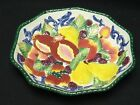 VINTAGE FITZ AND FLOYD LARGE CERAMIC FLORENTINE FRUIT CENTERPIECE PLATTER