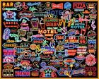 Jigsaw Puzzle Neon Signs Collection Glowing USA Toys Gift New Games 1000 Piece