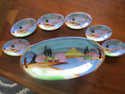 6 Small Sauce Dishes.Handpainted. Japan