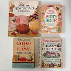 LOT of 4 1950's 1960's vintage cookbooks Cake Party Entertainment Betty Crocker
