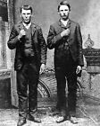 American Outlaws FRANK  JESSE JAMES Glossy 8x10 Photo Old West Portrait Poster