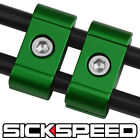2 GREEN ENGINE SPARK PLUG WIRE SEPARATOR DIVIDER CLAMP FOR MOTORCYCLE BIKE M6