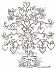 Valentines Day Love HEART TREE Wood Mounted Rubber Stamp NORTHWOODS P8384 New