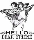 Princess Collection Fairy Clear Unmounted Rubber Stamp Prima Inc 951061 New