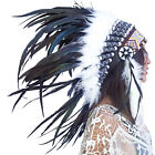 Feather Headdress Native American Indian Inspired ADJUSTABLE Black Roos