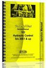 Caterpillar 183 Hydraulic Control Service Manual (S/N 36E1 +)