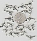 YOU GET 25 METAL WESTERN COWBOY GUN CHARMS OR PENDENTS FROM US SELLER A