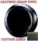 LINED VINYL SPARE TIRE COVER 265 287 NEW black 26 27 28 LEATHER GRAIN