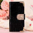 Luxury Bling PU Leather Magnetic Flip Wallet Stand Cover Case for iPhoe 5 6 Plus