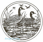Canadian Geese Family Wood Mounted Rubber Stamp Northwoods Stamp PP4962 New