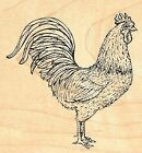 Rooster Wood Mounted Rubber Stamp JUDIKINS 3338G New