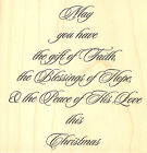 Christmas Quote Wood Mounted Rubber Stamp IMPRESSION OBSESSION F6304 New