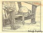 Beach Chair Wood Mounted Rubber Stamp IMPRESSION OBSESSION NEW H1976