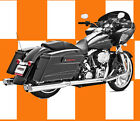 Freedom Exhaust Racing True Duals All Chrome Harley Davidson Touring HD00234