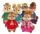 TY Beanie Babies Alvin and the Chipmunks Complete Set of 6 Plush Animal Toys
