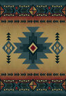 Blue Diamond Triangles Medallion Arrows Native American Area Rug Solid 530 29260