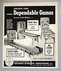 Big League Pinball Machine Game PRINT AD - 1965 ~ Gold Star, Super-Sonic Bowling