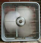 Vintage Lakewood Box Fan X-22 With Push Button Control All Metal No Plastic GUC