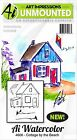 Beach Cottage Watercolor Unmounted Rubber Stamp Set ART IMPRESSIONS NEW 4606