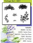 WATERCOLOR FOLIAGE Set Unmounted Rubber Stamp Set ART IMPRESSIONS 4051 New