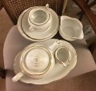 Royal Kent Poland Serving Fine Bone China White With Gold Trim 8Pc, Discontinued