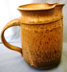Pitcher Stoneware Yellow Gold with Splashes of Green 6 1/4 in Tall
