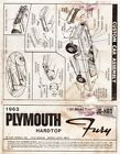 Jo-Han 1963 Plymouth Fury Hardtop Instruction Sheet 1/25 Scale
