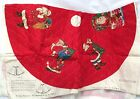 Cranston Nostalgia Collection Old Fashioned Santa Quilted Tree Skirt
