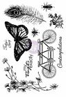 IRON ORCHID SET 10 Cling Unmounted Rubber Stamp Set Prima 814663 Butterfly New