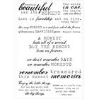 SENTIMENTS Moments Collection 10 Clear Unmounted Rubber Stamps Kaisercraft NEW