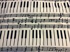 Piano keyboard music notes fleece fabric 60 sold BTY