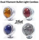 Custom Chrome Bullet Turn Signal Light Suzuki Front Rear Back Marker Blinker SET