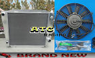 3 ROWS ALUMINUM RADIATOR  FAN 1966 1977 FORD BRONCO WAGON ROADSTER 50L 302 V8