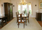 VTG KLING QUEEN ANNE DINING ROOM SET TABLE CHAIRS, SERVER, BREAKFRONT, TEA CART