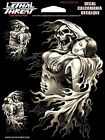 Skull Reaper Sticker Windshield Body Decal For Harley Davidson Road King Dyna