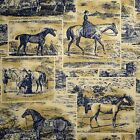 1.25 Yards Waverly MIDNIGHT POLO PROMENADE Blue Horse Drapery Sewing Fabric