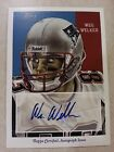 Wes Welker 2009 Topps National Chicle Autograph Auto Card