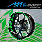 For Kawasaki Z750S / R Z1000 SX #GP1 Green Fluorescent Wheel Stripes Rim Sticker