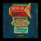 FRAMED Retro Drive In Movie Sign 12x12