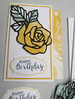 Stampin Up Card Kit ROSE GARDEN THINLIT DIES Mixed Greetings Set of 4 cards