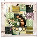 Bo Bunny Beautiful Dreamer Collection Scrapbook paper Lot 12 pcs double sided