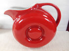Vintage HALL CHINA RED DONUT JUG 1335 Ice Lip Pitcher Excellent Condition