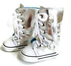 Silver High Top Sneaker Shoes made for 18 American Girl Doll Clothes