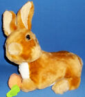 Bunny Rabbit Tan White Stuffed Plush Carrot Lying Down Easter Basket Toy Gift